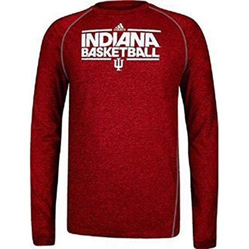 adidas Indiana Basketball Hoosiers Youth Long Sleeve Climalite On Court Tee (Large)