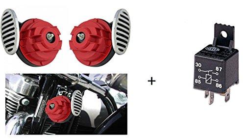 Speedwav Combo Of TypeR Car / Bike Horn (Set of 2) + Hella Relay Wiring Harness
