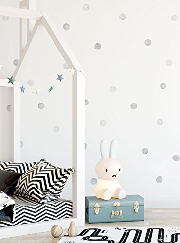 Simple Shapes Watercolor Dots Wall Stickers - Grey by Simple Shapes