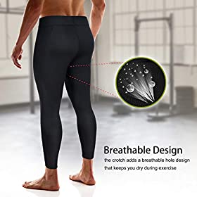 Wonderience Men Hot Neoprene Sauna Sweat Pants Slimming Body Shaper for Weight Loss Hot Thermo Leggings Workout Pants