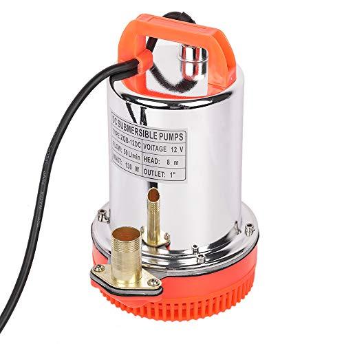 SHYLIYU Tauchwasserpumpe 12V DC 130W Solarbetriebene Pumpen, geeignet zum Pumpen von sauberem/Schmutzwasser, Schwimmbädern, überfluteten Kellern