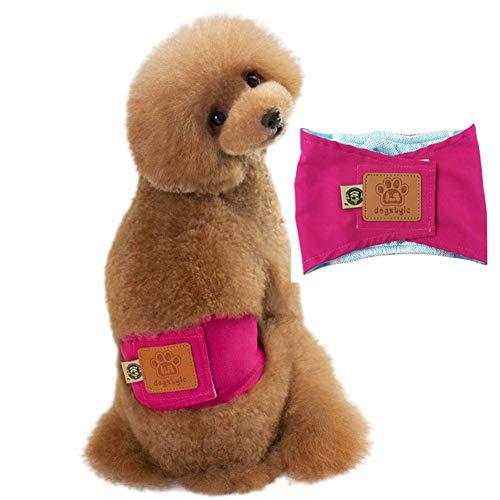 TTinah PañAles para Perros PañAles Perro Hembra Incontinencia PañAl Perro Macho Alta AbsorcióN De Agua Braga Perro For Cachorro Desentrenado Hembras En Celo Pink,Medium