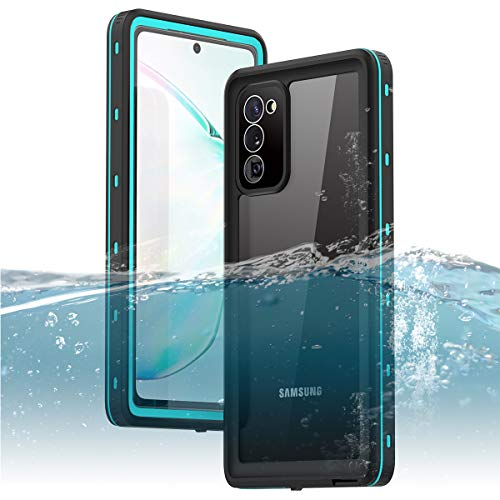 "Galaxy Note 20 Waterproof Case, ZERMU Shockproof IP68 Underwater Full Body Protection Crystal Transparent Built-in Screen Protector Underwater Waterproof Case for Samsung Galaxy Note 20 5G 6.7"" 2020"