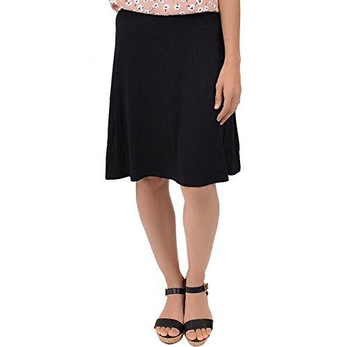 Stretch is Comfort Women's A-Line Skirt Black 2X