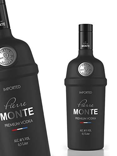 Vodka, Pierre Monte, premium Vodka, schwarz, 0,5 l.