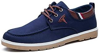 2019 Autumn Canvas Shoes Casual Shoes Men Trend Single Shoes Low to Help Casual Shoes Shoes (Color : Blue6601, Size : 40)