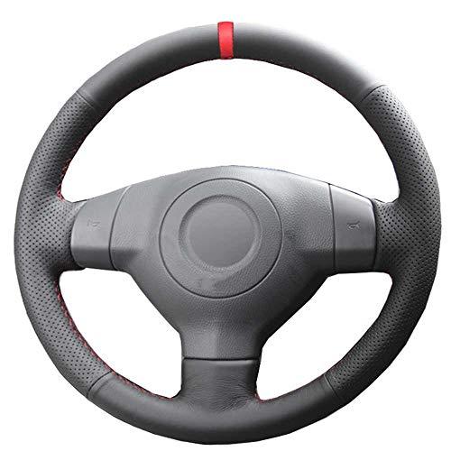 XQRYUB Hand nähen Autolenkradabdeckung Rote Markierung, Passend für Suzuki SX4 Alto Old Swift Opel Agila