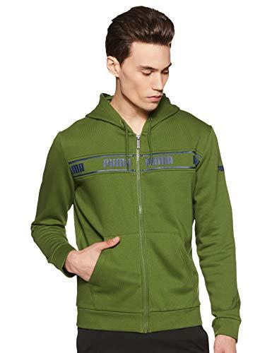Puma Men's Regular Jacket (58457433_Garden Green_Small)