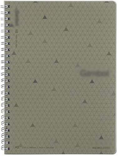 Cuaderno de diario en espiral, cuaderno de rayas de tapa dura, encuadernación de doble alambre fuerte con papel premium (color: gris, tamaño: 8.2 x 5.8 pulgadas)