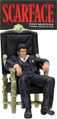 Unbekannt Scarface Tony Montana Figur schwarz/Gold, Bedruckt, aus 100% Kunststoff, in Geschenkverpackung.