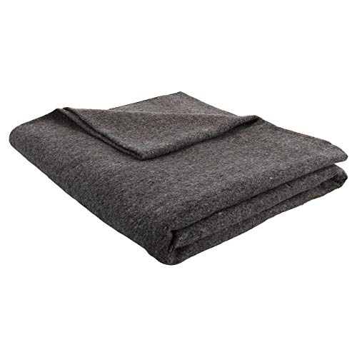 JMR Grey 62x80 Military Wool Blanket for Emergency, Camping, Everyday Use