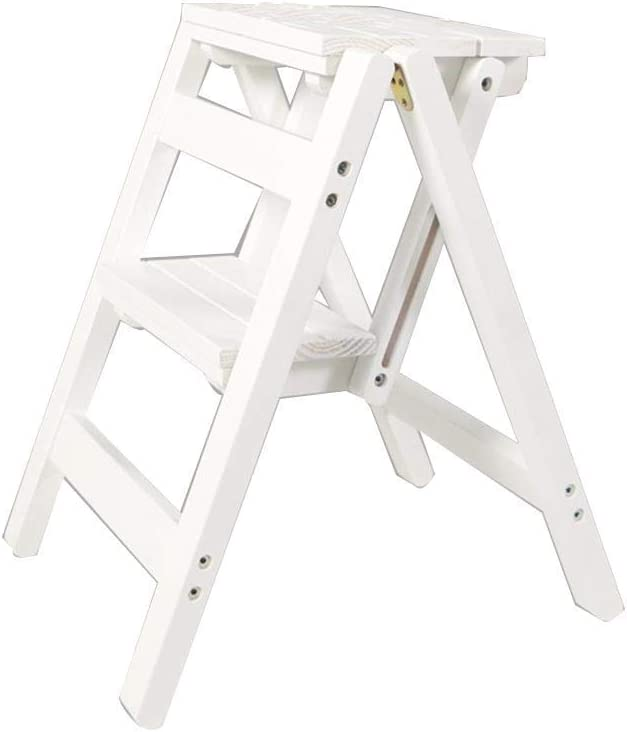 LSNLNN Ladders Two-Step Portable Ladder Bookstore Shop Complete Free Shipping Flower High quality P