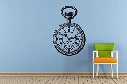 Reloj De Estilo Antiguo Bolsillo De Mano Pegatinas De Pared Vinilo Antiguo Reloj De Mano Vintage Tatuajes De Pared Tatuajes Arte Decoración De La Habitación Del Hogar Wm 42X61Cm