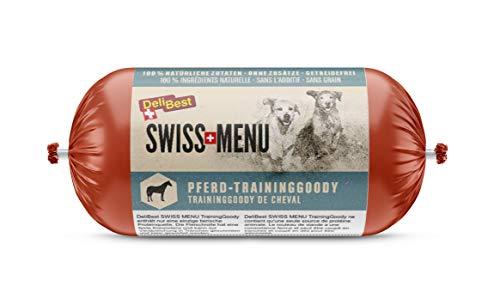 DeliBest SWISS MENU TrainingGoody Pferdefleisch I aus frischem Pferdefleisch und natürlichen Zutaten I Trainingsleckerlie Pferd I Hunde Snack für sensible Hunde I Leckerlies für Hunde 200 g