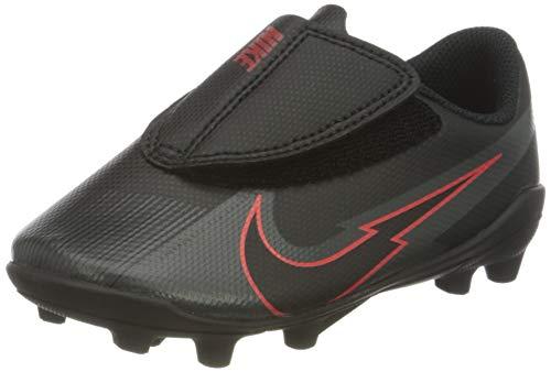 Nike Jr. Vapor 13 Club MG PS (V), Zapatillas de fútbol Americano, Black Black Dark Smoke Grey Chile Red, 30.5 EU