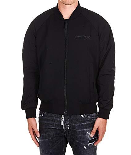 DSQUARED2 Luxury Fashion Herren S74AM0969S36258900 Schwarz Elastan Jacke | Jahreszeit Outlet