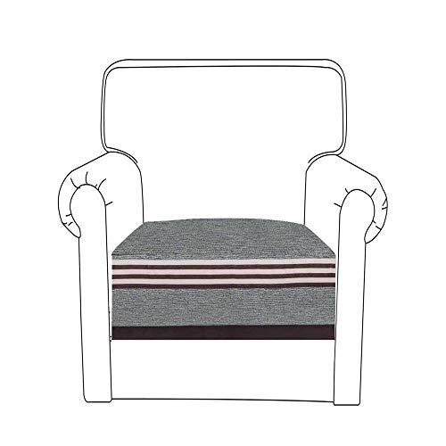 KIKIGO 1 Posti Antiscivolo Fodere Copridivano,Copertura Divano Sofa Protezione Universale Decorativa per Divani_Gray_35.43_35.43in(Solo1pezzo/non Tutti i Set)