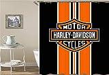 ZZZdz Harley Davidsons Logo. Wasserdicht. Einfach Zu S?Ubern. 12 Freie Haken. 3D-Hd-Druck. Nicht Verblassen. Duschvorhang 180X180 cm.