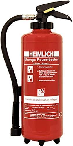 6Liter Wasser Übungslöscher wiederbefüllbar mit Druckluft Trainings- und Schulungs-Feuerlöscher für Ausbildung Brandschutzhelfer von MBS-FIRE