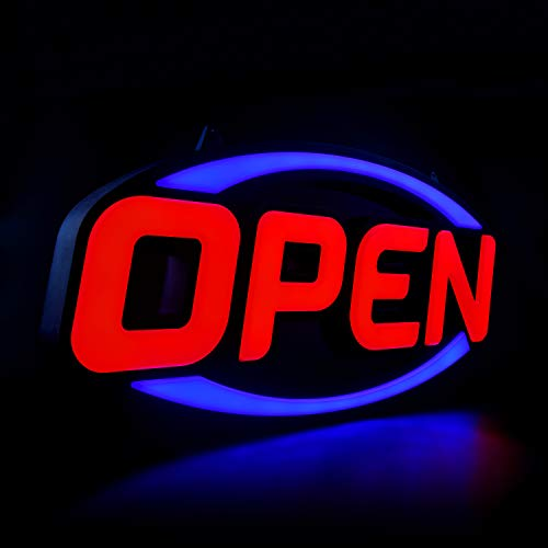 """GreenCube 32"""" X 16"""" Open Sign - Ultra Bright Extra Jumbo LED Neon Open Sign - Remote Controlled - Get Your Business Seen Day or Night"""
