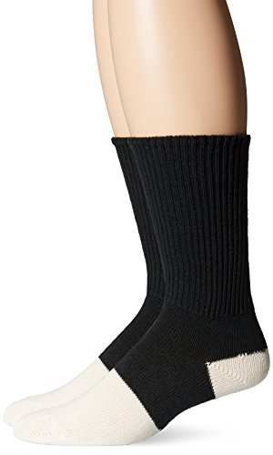 Jefferies Men's Health Crew 3 Pair Pack, Black/White, Sock Size 9-11