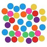 TOYANDONA 100 Stk Bingo Chips 19mm Bunte Chips Spielchips Zähler Zählen Chips Bingo Marker Acryl für Mathematik Lernen Spielzeug Bingo Game Reise Zuhause (Mischfarben)