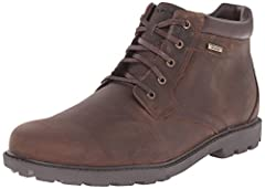 Mid-cut boot in waterproof leather with waxed flat laces and plush collar Comfort system designed to provide lightweight shock absorption. Hydro-shield construction with waterproof leather, seam sealing, waterproof insole board, and non-wicking laces...