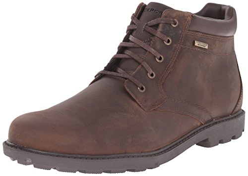 Rockport mens Storm Surge Water Proof Plain Toe chukka boots, Tan, 10.5 US