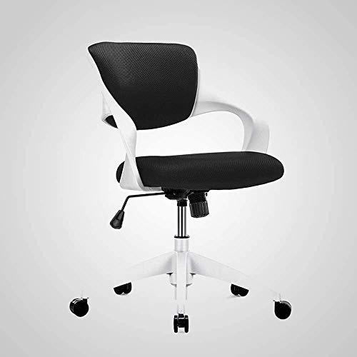WangCai Boss Freizeit-Stuhl Home Office bequem und atmungsaktiv Moderne einfache Rückenlehne Einzel Aufzug Stuhl, 4 Farben Optional Stuhl (Color : Black, Size : B)
