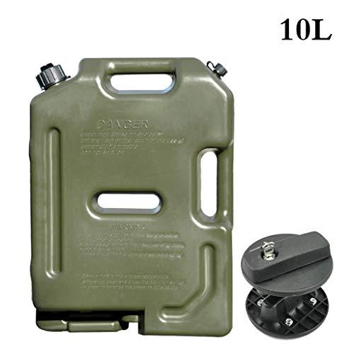 Mustbe Strong 2,6 Liter-Tank Dosen Tragbare Spliced 10L Heizöl Benzin Diesel Lager Gastank Notfall-Backup Für Motorrad-Auto-SUV ATV,B,10L