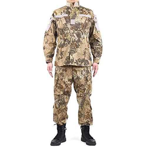 YZRDY For Hombre Uniforme Militar táctico Ropa de Combate del Escudo de Fuerzas Especiales del Ejército de Camuflaje Soldado Militar + Pant Set Combat (Color : Color4, Size : L.)