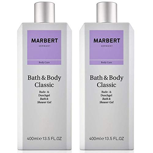 Marbert Bath & Body Classic Shower Gel, 2 x 400 ml