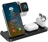 Kettles 15W 4 en 1 Station de Chargement sans Fil Qi Wireless Charger Stand Compatible avec iPhone...