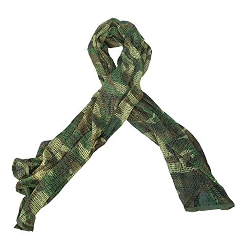 Brave TourTactical Military Neck Scarves Woodland Camo Scarf Sniper Veil Desert Shemagh for Outdoor Sports (style1)