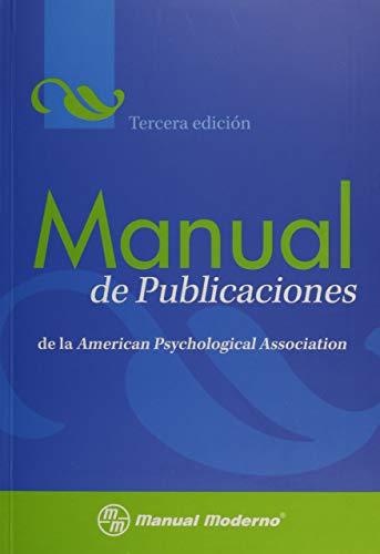 Manual De Publicaciones De La American Psychological Association Publication Manual Of The American Psychological Association Spanish Edition