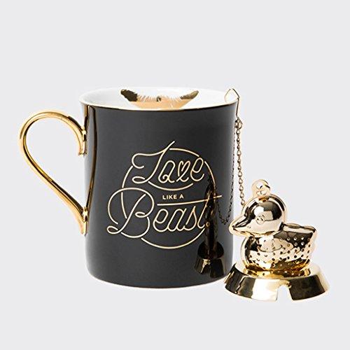 Tasses innovantes d'impression de lèvre tasse exquise de café de porcelaine d'os tasse de fuite de thé d'hommes et de femmes