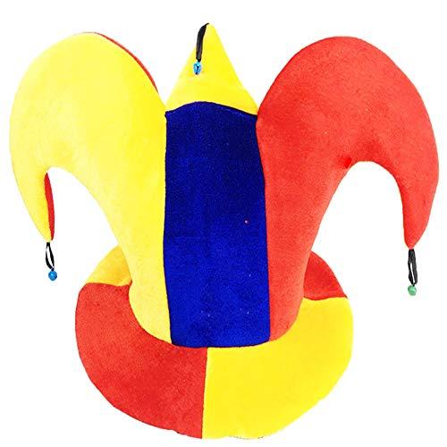 Black Temptation Disfraz de Sombrero de Bufón Sombrero de Bufón Divertido Multicolor Disfraces de Fiesta de Halloween, Sombrero de Payaso #8