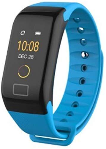 Para Samsung Galaxy J4 J6 J8 J3 J5 J7 2017 A3 A5 A7 A6 A8+ A9 2018 Smart Watch Pulsera impermeable ritmo cardíaco Fitness pulseras (color rojo-azul