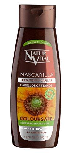 NATUR VITAL mascarilla capilar color cabellos castaños bote 300 ml