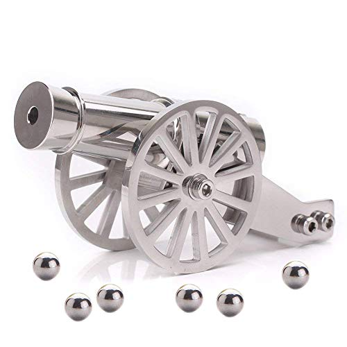 Firesofheaven Mini Napoleon Cannon Model Metal Replica Desktop Decorating and Collectibles