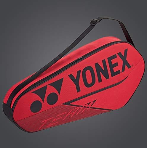 Yonex 42023 Badminton-Tennisschläger-Tasche, Rot, 3 Stück