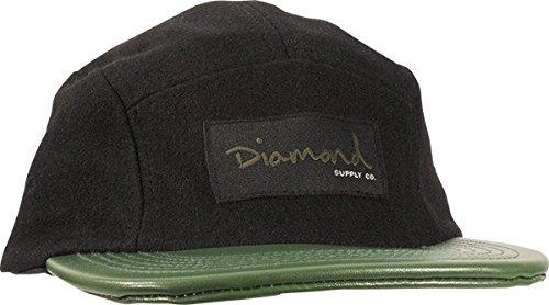 Diamond OG Wool 5 Panel Camp HAT ADJ-BLK/GRN
