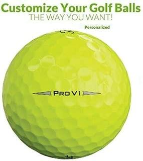 Personalized 1 Dozen Custom Logo Pro V1 2019 Yellow Golf Balls + Free Tees