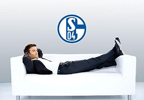 Wall-Art - Wandtattoo, Aufkleber - Schalke 04 Logo - 40 cm Durchmesser - Art. Nr. S04-10002