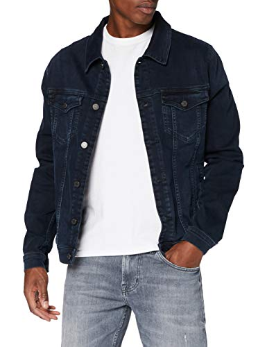 7 For All Mankind Mens Perfect Jacket Casual Blazer, Dark Blue, XL