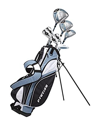 "Precise NX460 Ladies Womens Complete Golf Clubs Set Includes Driver, Fairway, Hybrid, 4 Irons, Putter, Bag, 3 H/C's - 2 Sizes - Regular and Petite Size! (Right Hand 5'3"" - 5'9"")"