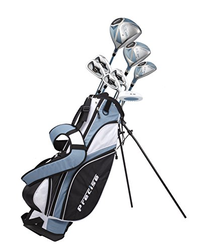 Precise NX460 Ladies Womens Complete Golf Clubs Set Includes Driver, Fairway, Hybrid, 4 Irons, Putter, Bag, 3 H/C's - 2 Sizes - Regular and Petite Size! (Right Hand 5'3