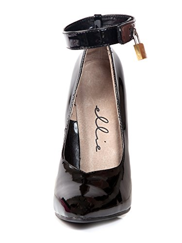 Ellie Shoes Women's 6 Inch Heel Fetish Pump with Lock and Key (Black;10)