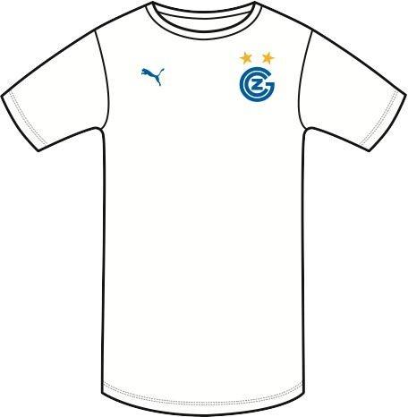 PUMA Camiseta Deportiva Infantil GCZ Home réplica sin Sponsor Logo Blanco White-Plat Blue Talla:176