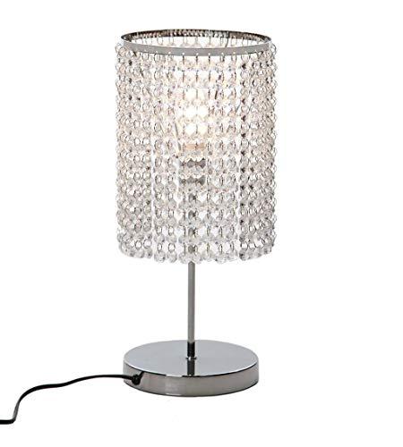 Lámpara de mesa de cristal de acero inoxidable de moda lámpara de noche estilo moderno colgante de...